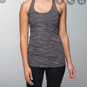 Lululemon Athletica Striped Racerback Tank Size 6